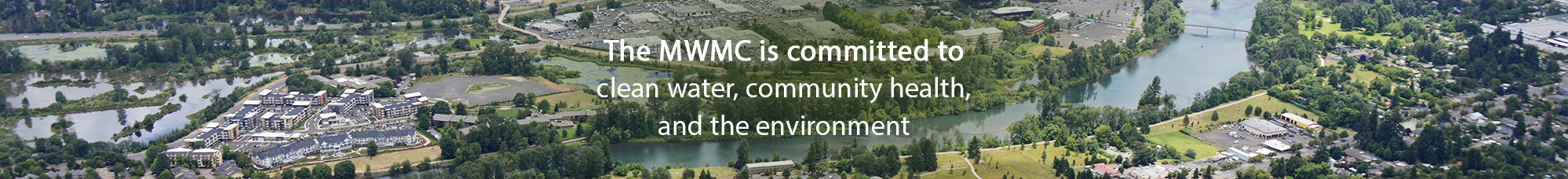 MWMC website header - The MWMC is committed to clean water, community health, and the environment.