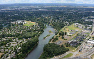 Treatment plant and Willamette River