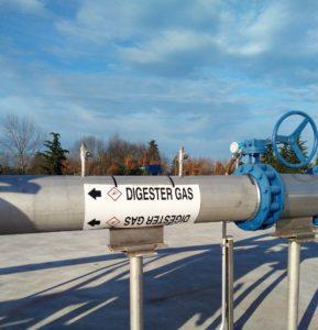 Biogas pipe